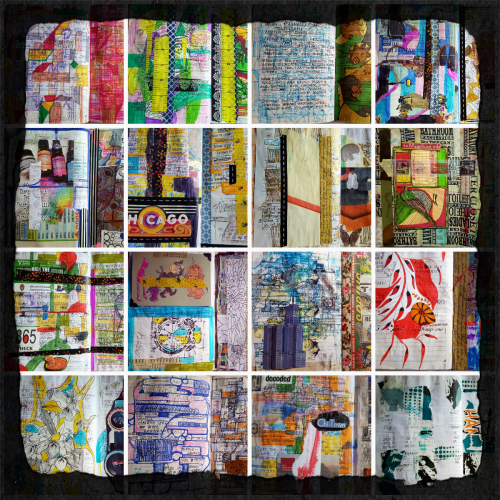 Collage of my journal2015-16,chicago